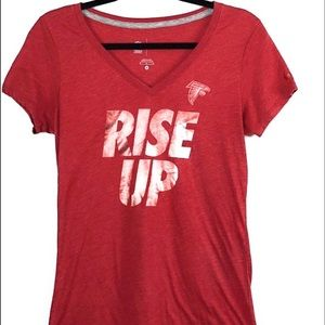Nike NFL Atlanta Falcons Womens Top Red RISE UP M
